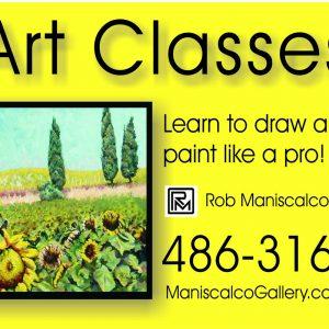 art classes sign