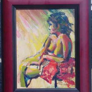 Seated Nude oil