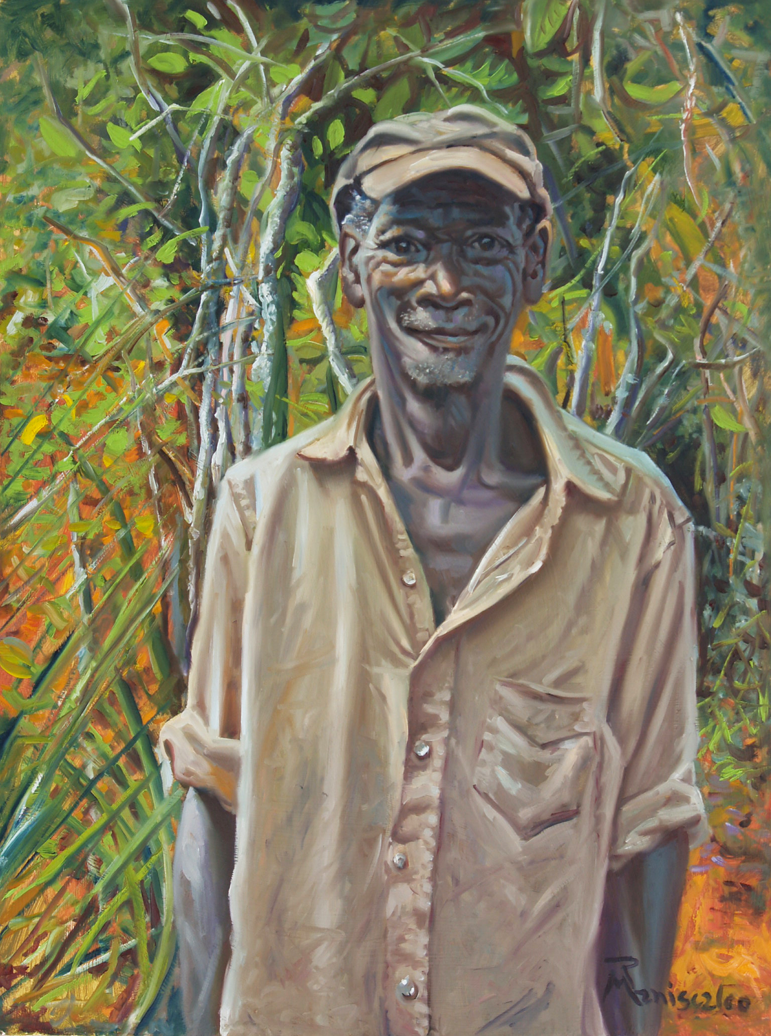 Merite the farmer in Haiti