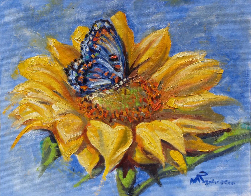 Butterfly and Sunflower