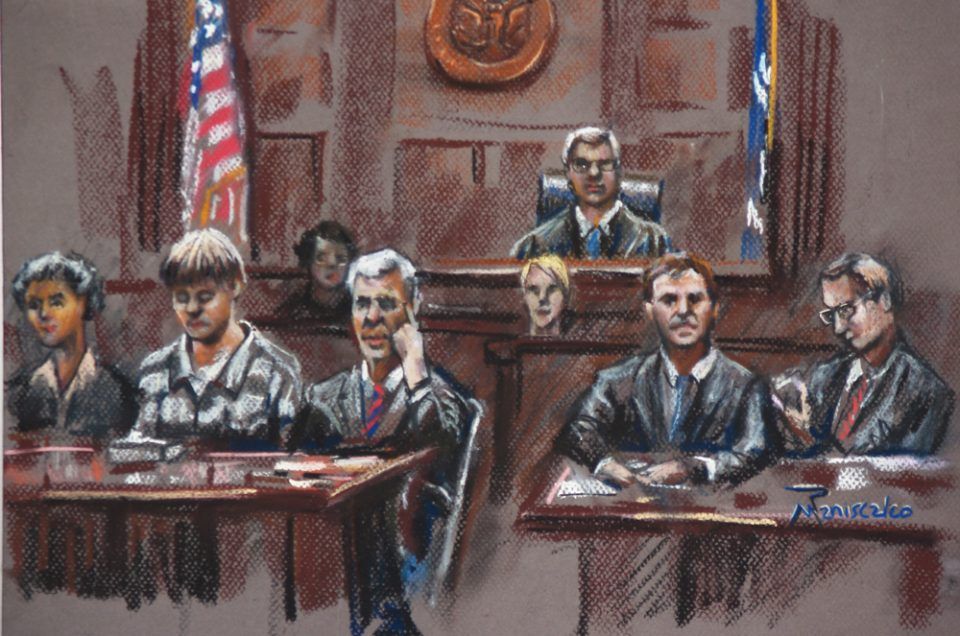 Dylann Roof Courtroom Sketches