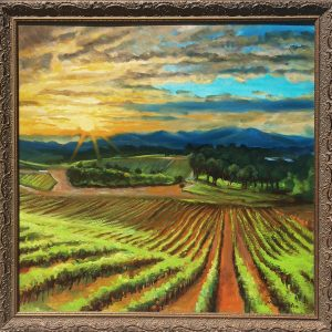 Vineyard Sunset Fantasy